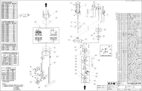Eaton DCF 1600 parts diagram single actuator configuration