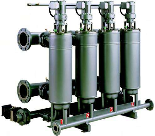 Multiplexed Automatic Filters for high flow rate and viscosity applications